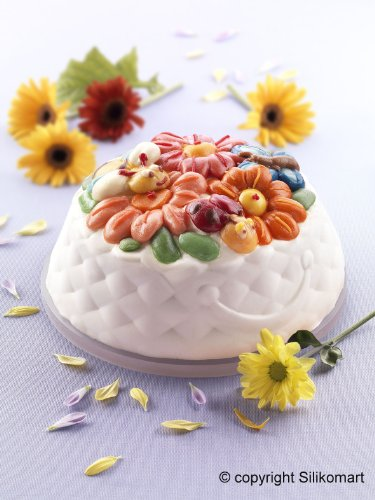 Silikomart Silicone Fancy and Function Bakeware Collection Cake Pan, Springlife