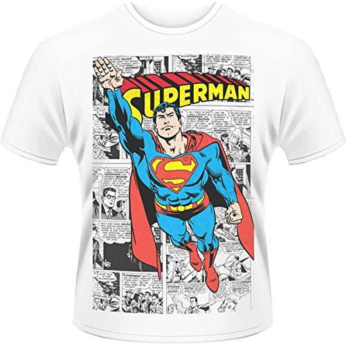 Playlogic-InternationalWorld-Dc-Originals-Superman-Comic-Strip-Camiseta-Hombre