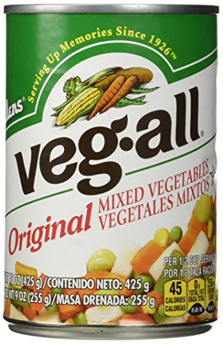 VEG ALL MIXED VEGETABLE, 15 OZ - (Pack of 6) (Canned Mixed Vegetables compare prices)