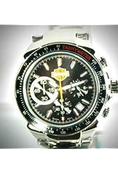 Harley-Davidson® Men's Bulova Watch. Black Patterned Dial. 78B113