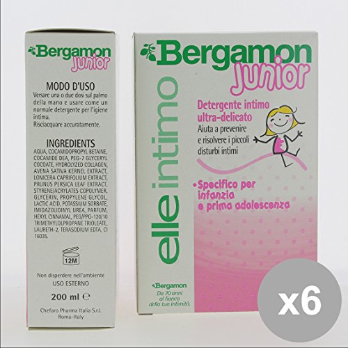 Set 6 BERGAMON Intimo 200 Dermolenitivo - Cura del Corpo