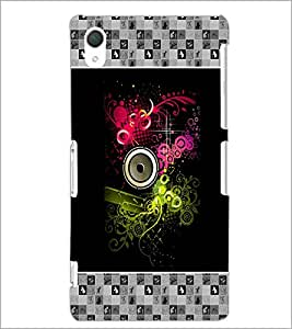PrintDhaba Abstract Design D-5726 Back Case Cover for SONY XPERIA Z2 (Multi-Coloured)