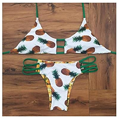 Pineapple Print Bikini Set Push-up Beach Wear Two Pieces Swimwear