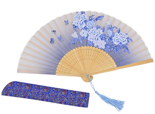 Amajiji® Chinese Vintage Retro Style Handheld Folding Fan (ZJ-07)