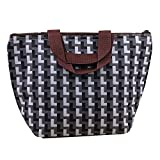 Bocideal 2014 1PC Black And White Grid Waterproof Picnic Lunch Tote Travel Zipper Bag