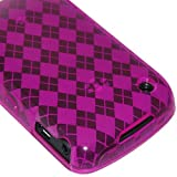 Amzer Luxe Argyle Skin Case for BlackBerry Curve 8520 Gemini - Purple