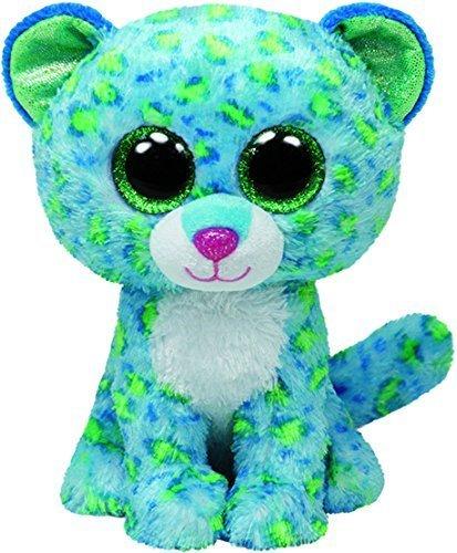 TY Beanie Boo Plush - Turquoise Leona Cheetah by Ty