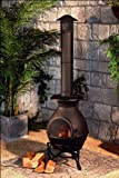 Premier BH71039AG 49 x 180cm Cast Iron Chimnea Burner - Antique Gold