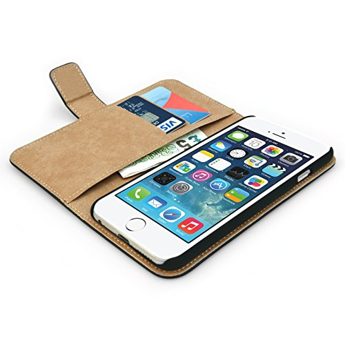 Caseflex coque iphone 6 etui noir r el v ritable cuir for Housse cuir iphone 6