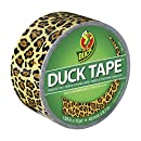 Duck Brand 1379347 Spotted Leopard Printed Duct Tape, 1.88 Inches x 10 Yards, Single Roll