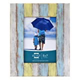 Prinz Shorelines Washed Wood Frame, 5 by 7-Inch, Multi-Color