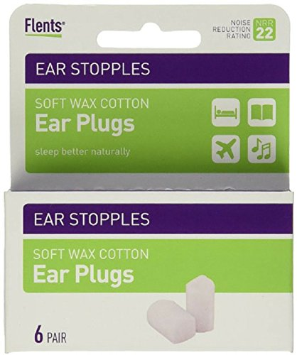 Flents Ear Stopples Wax-Cotton Ear Plugs 6 Pairs (Pack of 4) (Cotton Ear Plugs compare prices)