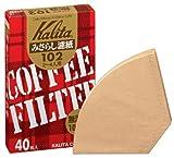 Kalita コーヒーフィルター みさらし102濾紙 2~4人用 40枚入り 「10パックセット」