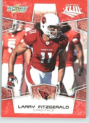2008 Donruss - Score Limited Edition Super Bowl XLIII # 3 Larry Fitzgerald - Arizona Cardinals - 2008 NFC Champion - NFL Trading Card