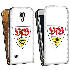 Handy Design Tasche Hülle Case für VFB Stuttgart Galaxy S4 mini i9195 - DesignTasche Downflip black - Samsung