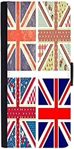 Snoogg 4 Cute British Flags In Shabby Chic Floral And Vintage Style Designer Protective Phone Flip Case Cover For Samsung Galaxy J7