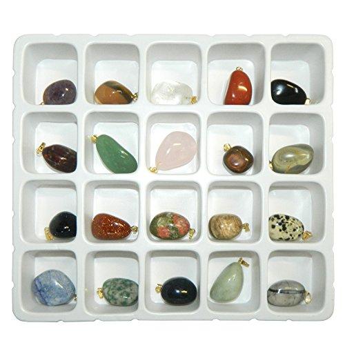 Pendentifs 20 pierres précieuses gemmes Esotérisme Bijoux colliers