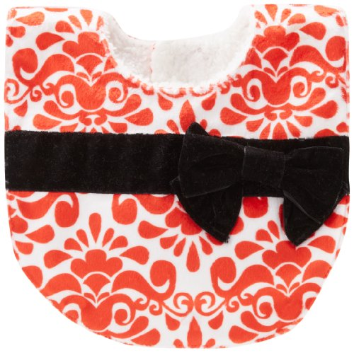 Mud Pie Baby-Girls Newborn Red Damask Bib, Multi, 0-12 Months front-577676