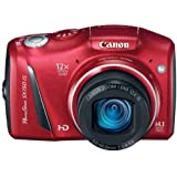 Canon 5663B005 PowerShot SX150 IS 14.1 MP Digital Camera with 12x Wide-Angle Optical Image Stabilized Zoom with 3.0-Inch LCD (Red) (Discontinued by Manufacturer)