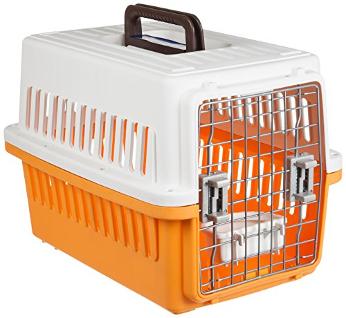 IRIS Small Dog Air Travel Carrier Crate, Orange