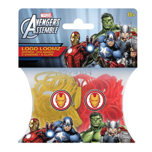 Marvel Comics Ironman Loom Bands and Charm Pack (200 Bands, 6 Clips and 1 Charm)