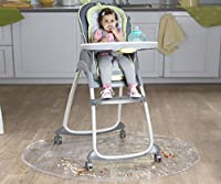 Nuby Floor Mat, Plastic, High Chair Floor Protector, Clear, Multi-Purpose, Feeding from Nuby