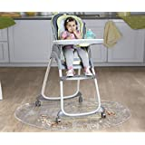 Nuby Floor Mat, Plastic, High Chair Floor Protector, Clear, Multi-Purpose, Feeding