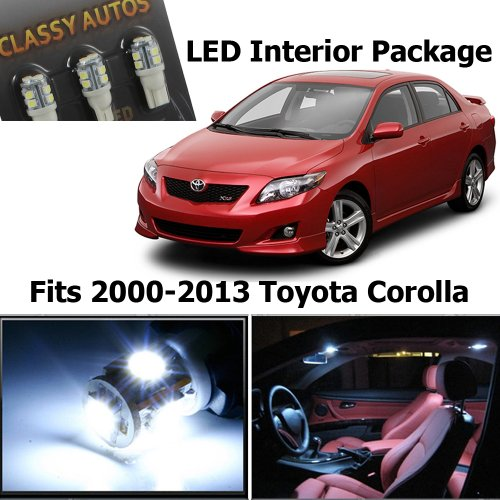Classy Autos Toyota Corolla White Interior LED Package (6 Pieces) (Toyota Corolla Time compare prices)