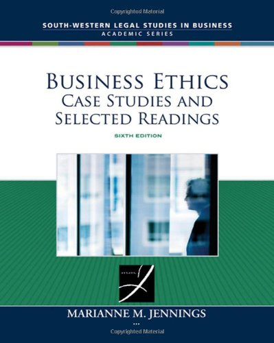 Business Ethics: Case Studies And Selected Readings (South-Western Legal Studies In Business Academic) front-846478