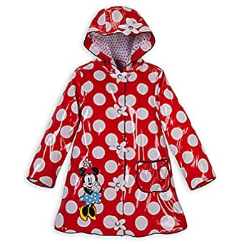 Disney Classic Minnie Mouse Red Rain Jacket Coat Wear Mickey Mouse Clubhouse