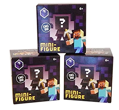 Minecraft Mystery Mini-Figure Series 4 Obsidian (Set of 3 Boxes) from Mojang