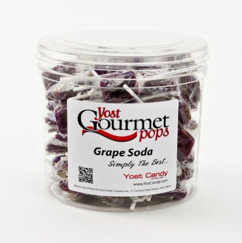 Yost Gourmet Pops, 80 Count Tub - Grape Soda