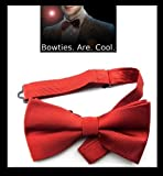 Dark Red Silk Hand made Bow Tie, Doctor Who, 'Bow ties are cool'