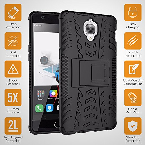 newest collection a96ec 7fd49 CaseMania Defender Shockproof Hybrid Armour back case cover for Oneplus 3 /  One Plus Three / One Plus 3 / Oneplus Three/1+3/ OnePlus 3T with Kick ...
