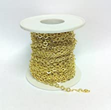 32 Feet Gold Plated Brass Cable Chain 66140gp