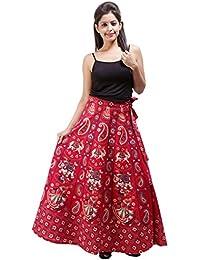 Jaipur Skirt Women's Cotton Wrap Skirt - B01F5OI7U0