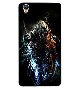 ColourCraft Dark King Design Back Case Cover for OPPO R9