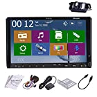 Rear Camera Included Pupug 2015 New Model 7-Inch Double-2 DIN In Dash Car DVD Player Touch screen LCD Monitor with DVD/CD/MP3/MP4/USB/SD/AMFM/RDS Radio/Bluetooth/Stereo/Audio and GPS Navigation SAT NAV Head Deck Tape Recorder Wall Paper exchange HD:800*480 LCD+Windows Win 8 UI Design Free GPS Antenna+Free USA GPS Map+Free Backup Camera