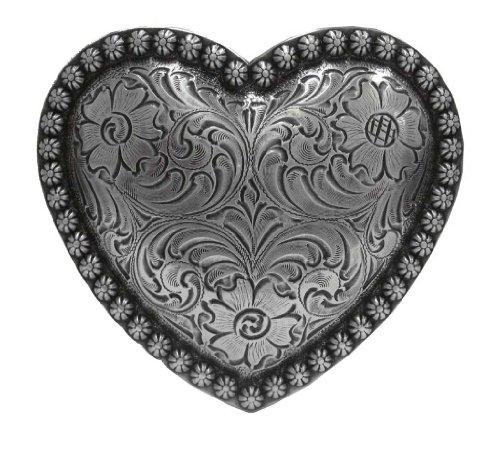 Antique Nickel Finish Heart Ladies