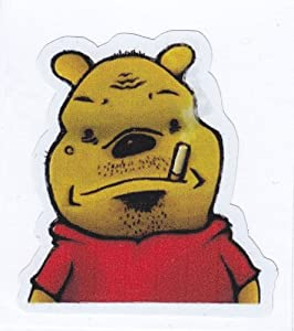 Thug Winnie the Pooh Sticker for Skateboards, Snowboards ...