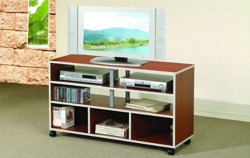 Cheap All new item Wood finish TV / Plasma / LCD stand entertainment center with casters (AMB F4488)