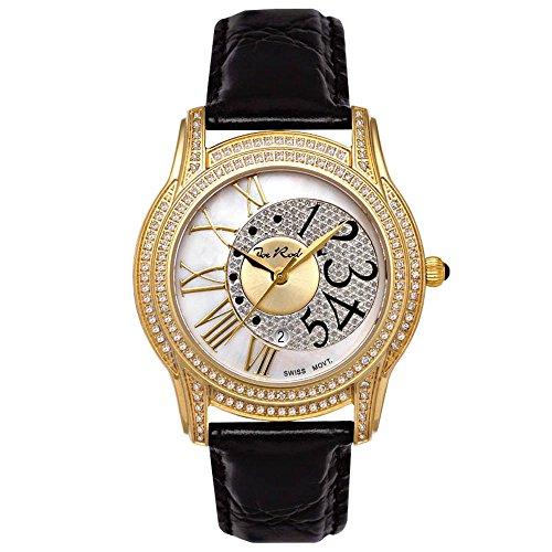 Reloj de mujer de diamante Joe Rodeo - Juego de cerradura dorado 1,35 de quilate