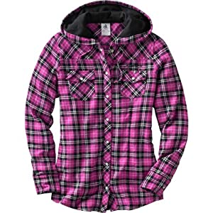 Legendary Whitetails Ladies Grand Wood Button Down Plaid Hoodie by Legendary Whitetails