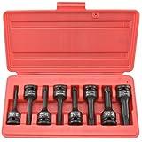Neiko Pro 01138B 1/2-Inch Drive Cr-Mo Torx Driver Impact Socket Set | 8-Piece Set
