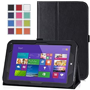"Moko TOSHIBA Encore WT8-A32 Case - Slim Folding Cover Case for TOSHIBA Encore WT8-A32 8 "" Inch Tablet, BLACK"