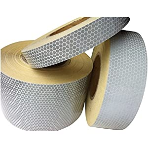 Hi Viz Intensity Grade White Reflective Tape 100mm X10M