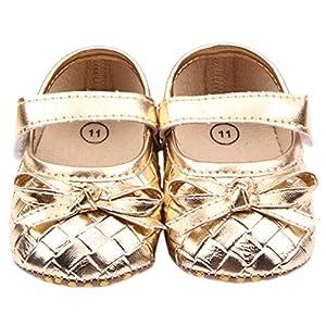 EOZY Shoes Summer Zapatos Para Bebé 0-1Año Niño Niña Primero Paso Cierre Velcro Oro 12cm de EOZY