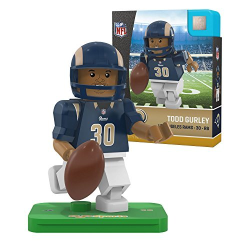 NFL St. Louis Rams Gen4 Limited Edition Los Angeles Todd Gurley Mini Figure, Small, White by OYO