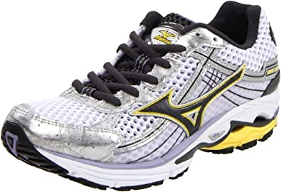 Mizuno Women's Wave Rider 15 Narrow Running,White/Dark Shadow/Lavender,9.5 2A US
