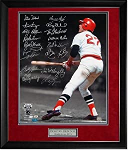 Carlton Fisk Autographed Photo Framed - Stay Fair Wave - Multiple Autos - Autographed... by Sports Memorabilia
